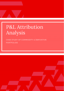 Whitepaper - Pnl Attribution Analysis